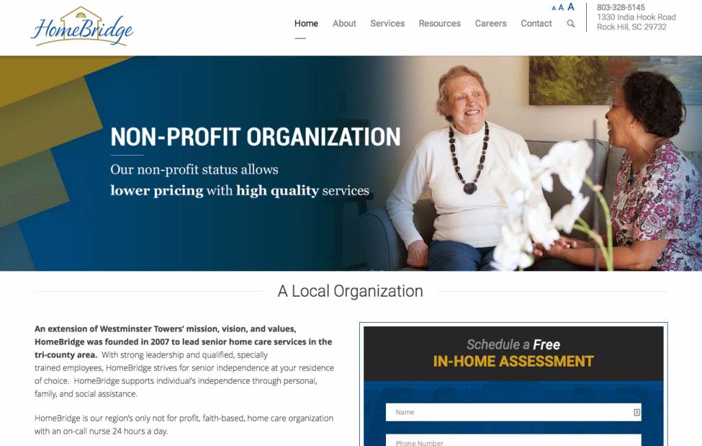 Screenshot of the Homebridge Services Website