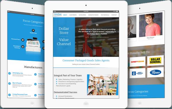 Anchor Sales & Marketing Website Design