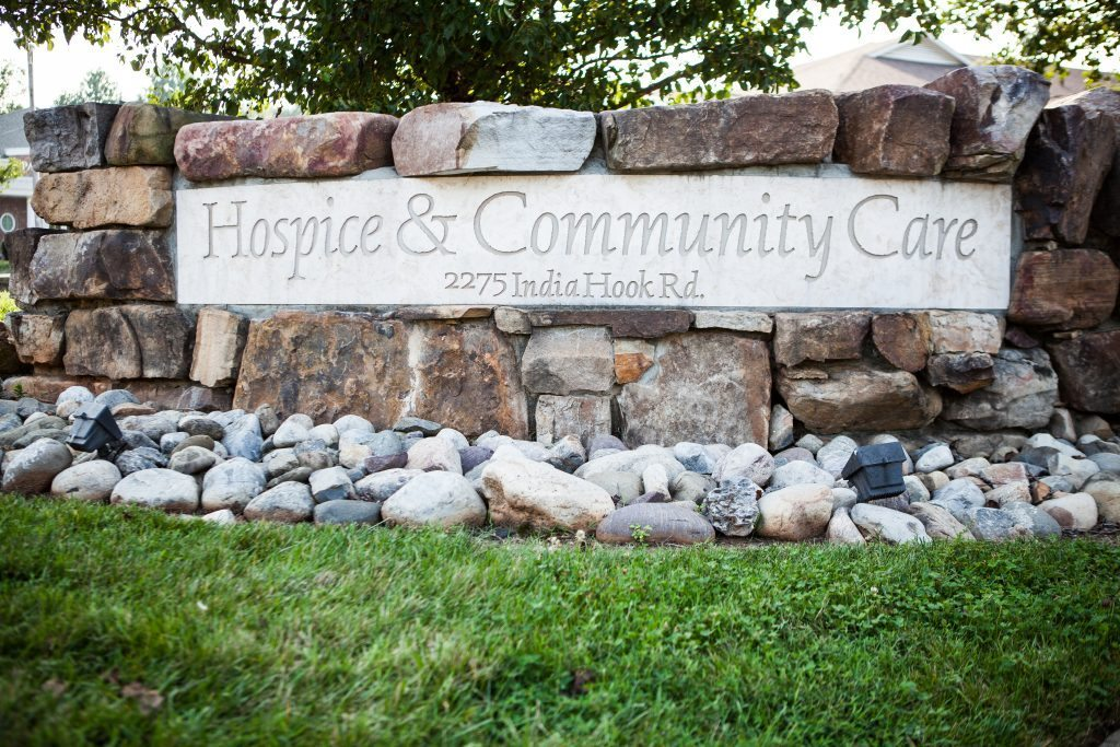 Hospice and Community Care Sign